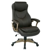 Office Star Work Smart Executive Chair with Padded Arms; Espresso/Cocoa