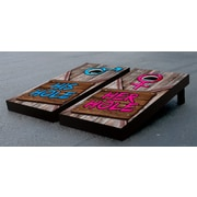 Victory Tailgate His Hole Her Hole Wooden Sign Cornhole Game Set