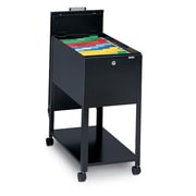 Mayline 1-Drawer Mobile Letter Size File; Black