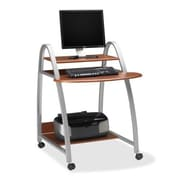 Mayline Mobile Arch 31.5'' W x 28.5'' D Computer Desk; Medium Cherry
