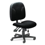 Mayline Mid-Back Fabric Task Chair with Optional Arms; Black