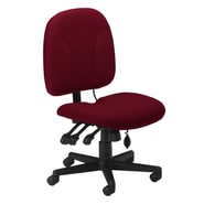 Mayline Mid-Back Fabric Task Chair with Optional Arms; Burgundy