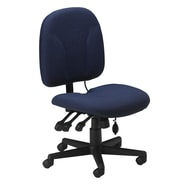 Mayline Mid-Back Fabric Task Chair with Optional Arms; Blue