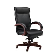 Mayline High-Back Leather Corsica Chair; Sierra Cherry Veneer