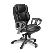 Mayline Series 300 Mid-Back Leather Office Chair; Black