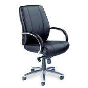 Mayline Optima Mid-Back Leather Office Chair