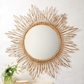 Twos Company Natural Rattan Large Wall Mirror