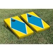 Victory Tailgate Diamond Matching Version 1 Cornhole Boards Game Set; Bright Gold / Aqua Blue