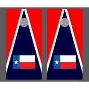 Victory Tailgate State Flag Texas Triangle Flag Cornhole Bean Bag Toss Game