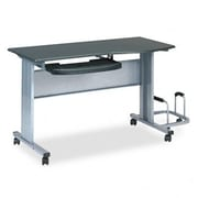 Mayline Mobile Worktable 57'' W x 23.5'' D Computer Table; Anthracite