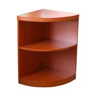 Mayline 2 Shelf Quarter Round 29.5'' Bookcase; Cherry