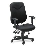 Mayline Mid-Back Fabric Executive Posture Chair; Black