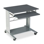 Mayline Empire Mobile PC Station 29.75'' W x 23.5'' D Computer Table; Anthracite