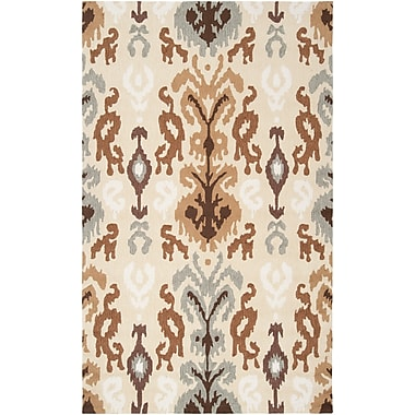 Surya Brentwood BNT7674-58 Hand Hooked Rug, 5' x 8' Rectangle