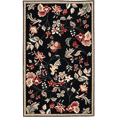 Surya Flor FLO8907-912 Hand Hooked Rug, 9' x 12' Rectangle