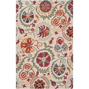 Surya Centennial CNT1052-58 Hand Hooked Rug, 5' x 8' Rectangle
