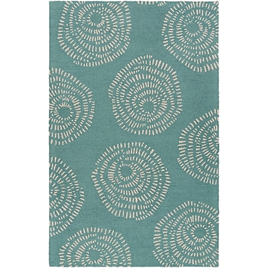 Surya Lotta Jansdotter Decorativa DCR4010-58 Hand Tufted Rug, 5' x 8' Rectangle