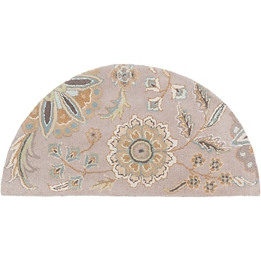 Surya Athena ATH5127-24HM Hand Tufted Rug, 2' x 4' Semi-Circle