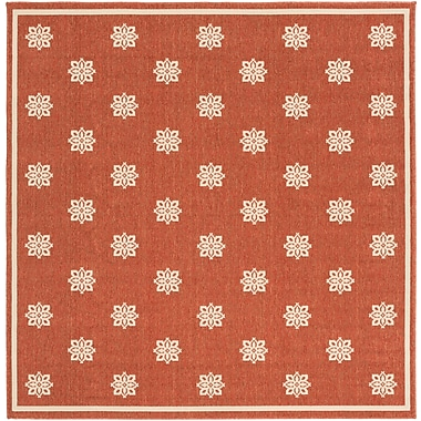 Surya Alfresco ALF9611-73SQ Machine Made Rug, 7'3