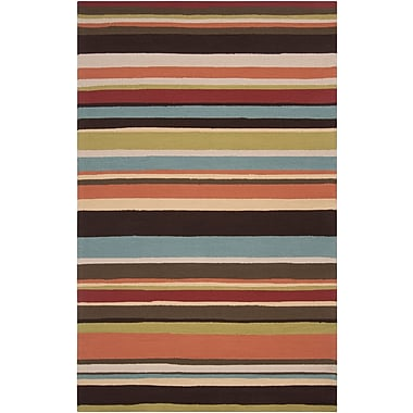 Surya Rain RAI1091-810 Hand Hooked Rug, 8' x 10' Rectangle