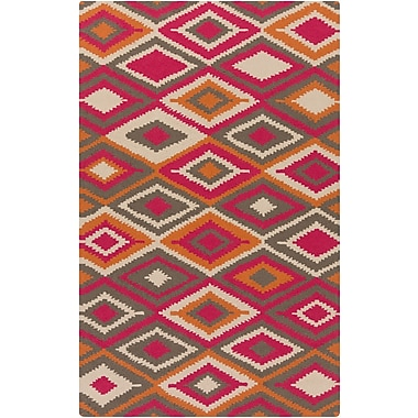 Surya Rain RAI1207-58 Hand Hooked Rug, 5' x 8' Rectangle
