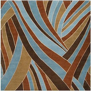 Surya Forum FM7002-4SQ Hand Tufted Rug, 4' Square