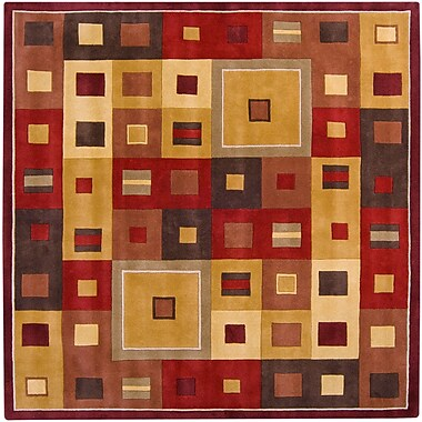 Surya Forum FM7014-4SQ Hand Tufted Rug, 4' Square