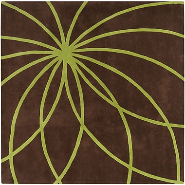 Surya Forum FM7073-4SQ Hand Tufted Rug, 4' Square