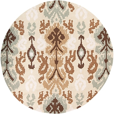 Surya Brentwood BNT7674-6RD Hand Hooked Rug, 6' Round