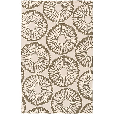 Surya Rain RAI1221-58 Hand Hooked Rug, 5' x 8' Rectangle