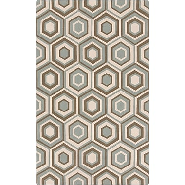Surya Rain RAI1226-58 Hand Hooked Rug, 5' x 8' Rectangle