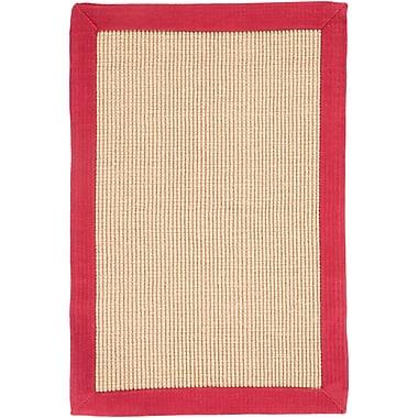 Surya Soho RED Hand Woven Rug, 8' x 10' Rectangle