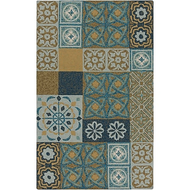Surya Papilio Namada NAM8002-46 Hand Hooked Rug, 4' x 6' Rectangle