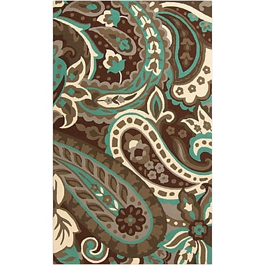 Surya Rain RAI1158-58 Hand Hooked Rug, 5' x 8' Rectangle