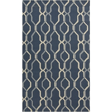 Surya Rain RAI1183-58 Hand Hooked Rug, 5' x 8' Rectangle