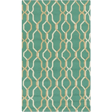Surya Rain RAI1185-35 Hand Hooked Rug, 3' x 5' Rectangle
