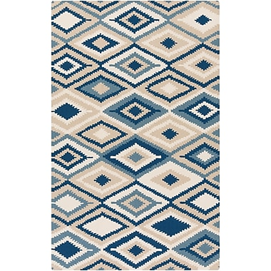 Surya Rain RAI1204-58 Hand Hooked Rug, 5' x 8' Rectangle