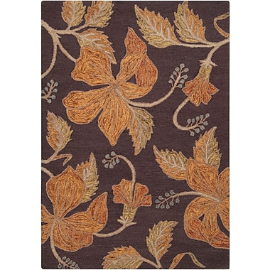 Surya Blooming BLM7001-58 Hand Hooked Rug, 5' x 8' Rectangle
