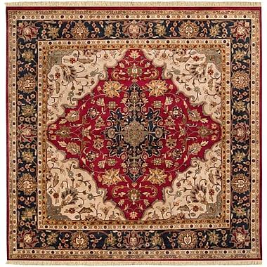 Surya Taj Mahal TJ2000-8SQ Hand Knotted Rug, 8' Square