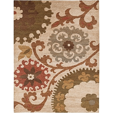 Surya Columbia CBA106-811 Hand Woven Rug, 8' x 11' Rectangle