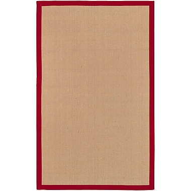 Surya Soho RED Hand Woven Rug, 5' x 8' Rectangle
