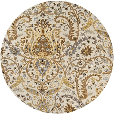 Surya Ancient Treasures A165-8RD Hand Tufted Rug, 8' Round