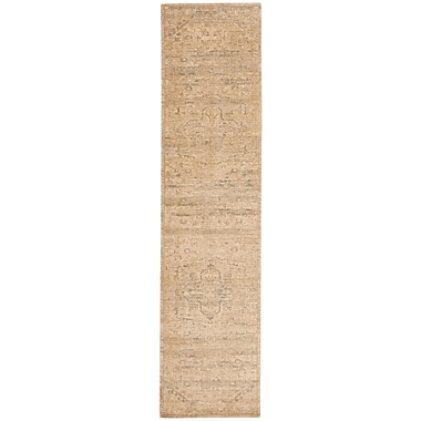 Nourison Silk Elements Sand Medallion Area Rug; 5'6'' x 8'