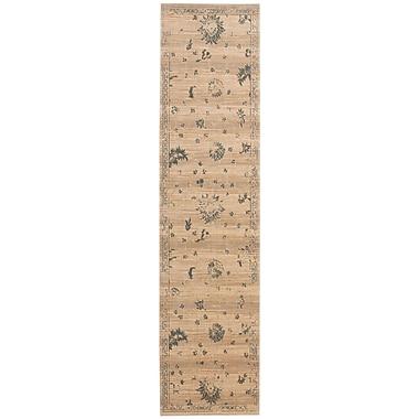 Nourison Silk Elements Beige Medallion Rug; 9'9'' x 13'