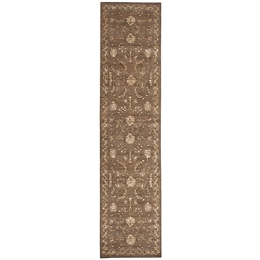Nourison Silk Elements Leaf and Vine Cocoa Area Rug; 5'6'' x 8'