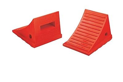 Checkers Monster Roadblock 2 lbs. Wheel Chock Orange 2 Pieces Pack