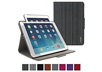rOOCASE 360 Rotating Dual-View Detachable Stand Case For iPad Air 5th Generation, Canvas Black