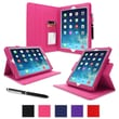 roocase Dual-View APIPAD5DVMA Synthetic Leather Folio Case for Apple iPad Air (5th Generation), Magenta