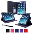 roocase Dual-View APIPAD5DVNV Synthetic Leather Folio Case for Apple iPad Air (5th Generation), Navy