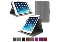 rOOCASE Dual-View Detachable Stand Case For iPad Mini, Canvas Gray